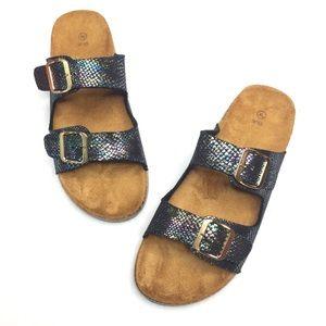 Mermaid Metallic Birkenstock Sandal Dupes
